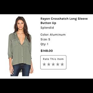 Long sleeve button front shirt